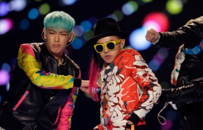 SEOUL, SOUTH KOREA - MARCH 11: G-Dragon and T.O.P of BIGBANG perform on the stage during a concert at the K-Collection In Seoul on March 11, 2012 in Seoul, South Korea. (Photo by Chung Sung-Jun/Getty Images)