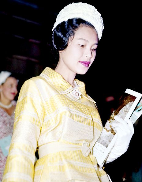 Queen Sirikit of Thailand, at Burlington House, London, during a State Visit, circa 1960. (Photo by Ray Bellisario/Popperfoto/Getty Images)