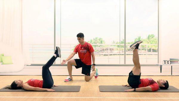 Leg Lift/Hip Raise - Fitness First - CORE ABS