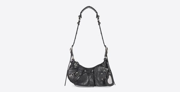 LE CAGOLE XS SHOULDER BAG IN BLACK