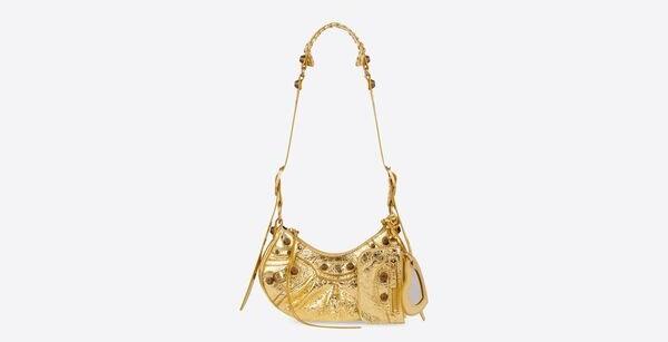 LE CAGOLE XS SHOULDER BAG IN GOLD