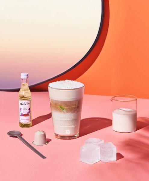 Exotic Coconut Flavour Macchiato Over Ice