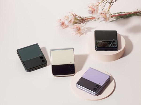 Samsung ZFlip3_Cream_Lavender_Phantomblack_Green